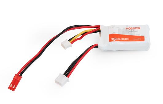 LiPo Pack 2S 7,4V 350 mAh 30C (HPR) MODSTER WhiteLine