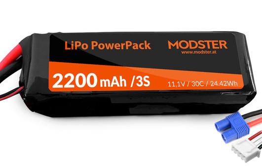 LiPo Akku 3S 11,1V 2200 mAh 30C (EC3) MODSTER PowerPack