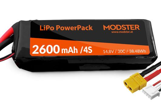 LiPo Pack 4S 14,8V 2600 mAh 30C (XT60) MODSTER PowerPack