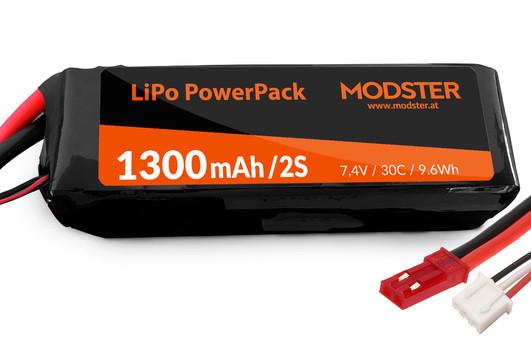 LiPo Pack 2S 7,4V 1300 mAh 30C (JST) MODSTER PowerPack