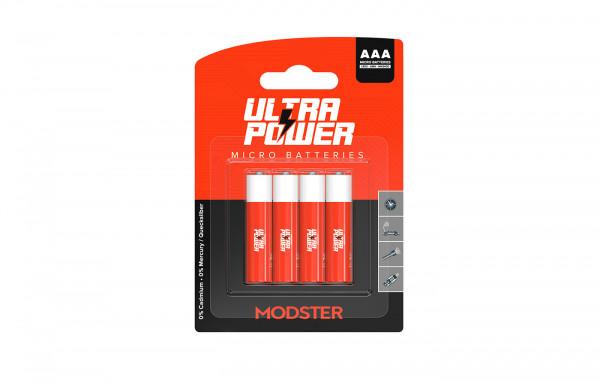 Batterie MODSTER Ultra Power AAA Micro Blister 4 Stück