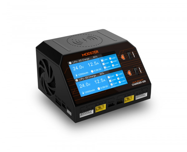 Ladegerät AC/DC Modster Smart Duo Charger 600W 16A 2x6S Lipo mit