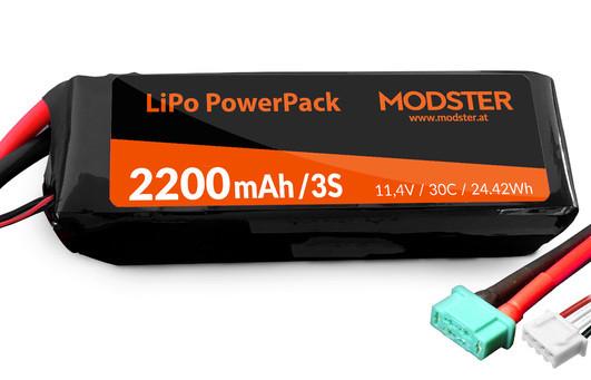 LiPo Akku 3S 11,1V 2200 mAh 30C (MPX) MODSTER PowerPack